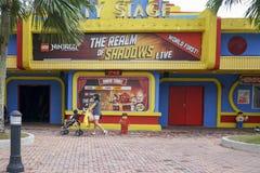 Miasto scena Legoland Malezja 21 batalistycznych duży redakcyjnych rozrywki festiwalu wizerunku rycerzy średniowieczna narodu ros Zdjęcia Stock