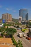 Miasto sen Macau kasyno z korona hotelem i Wenecki Obraz Stock