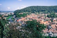 Miasto Sighisoara, europejski podróży miejsce przeznaczenia obrazy royalty free