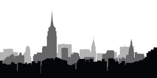 miasto skyline nowy York wektora, Obrazy Stock