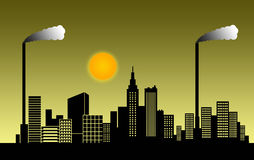 miasto smog ilustracji