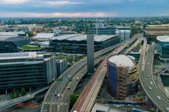Miasto Sydney przy zmierzchem Sydney Australia Fotografia Royalty Free