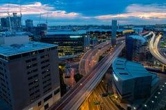 Miasto Sydney przy zmierzchem Sydney Australia Zdjęcie Royalty Free