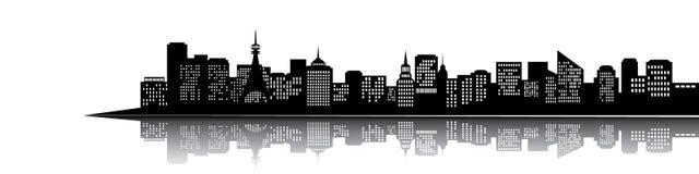 miasto sylwetka royalty ilustracja