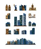 Miasto sylwetka ilustracja wektor