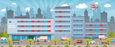 Miasto szpital ilustracji
