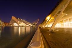 Miasto sztuki i nauki w nocy Fotografia Stock