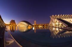 Miasto sztuki i nauki w nocy Obraz Royalty Free