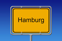 Miasto Szyldowy Hamburg Obraz Royalty Free