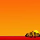 miasto tła pomarańcze Obrazy Royalty Free