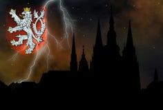 miasto tajemniczy Prague Obraz Royalty Free