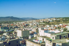 Miasto Tetuan, Marocco, 2013 Wiosna w Afryka Widoków strets, natura Fotografia Stock