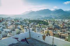 Miasto Tetuan, Marocco, 2013 Wiosna w Afryka Widoków strets, natura Obraz Stock