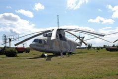 Miasto Togliatti Rosja Techniczny muzeum K g sakharov Eksponata sowieci purpose transportu Mi-26 ciężki helikopter Obrazy Royalty Free