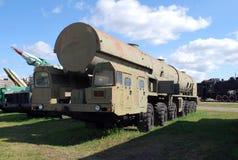 Miasto Togliatti 15T381 struktura Topolowy system rakietowy na podwoziu MAZ-7917 Zdjęcie Royalty Free