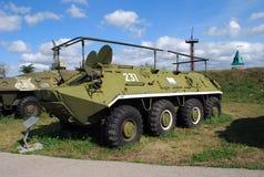 Miasto Togliatti Techniczny muzeum K g sakharov Eksponat muzealny średni artylerii ATS-59 ciągnik zdjęcie stock