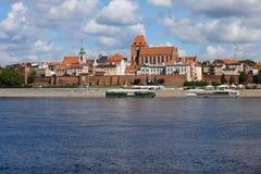 Miasto Toruńska linia horyzontu w Polska Obrazy Stock