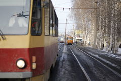 Miasto tramwaje Zdjęcie Stock