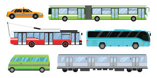 Miasto transportu ustalona wektorowa ilustracja Zdjęcia Stock