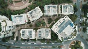 Miasto trutnia antena z góry zdjęcie wideo