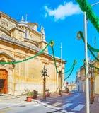 Miasto uczta w Siggiewi, Malta zdjęcie royalty free