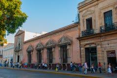 Miasto ulica, domowy zakończenie Merida yucatan Meksyk zdjęcie royalty free