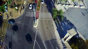 Miasto ulica od powietrza zbiory wideo
