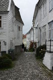 Miasto ulica w Bergen Obraz Stock