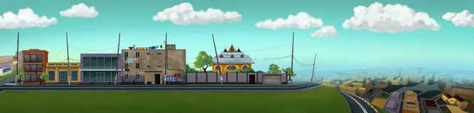 Miasto ulicy widok royalty ilustracja