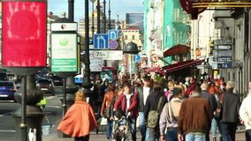 Miasto Uliczny tłum zdjęcie wideo