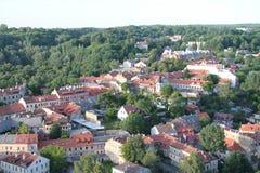 Miasto Vilnius & x28; Lithuania& x29; , widok z lotu ptaka fotografia stock