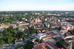 Miasto Vilnius & x28; Lithuania& x29; , widok z lotu ptaka obraz stock