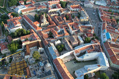 Miasto Vilnius Lithuania, widok z lotu ptaka Zdjęcia Stock