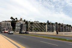 Miasto vina Del Mącący administracyjny centrum homonimiczny zarząd miasta, część prowincja Valparaiso Obrazy Stock