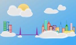 Miasto w chmurach Obrazy Royalty Free