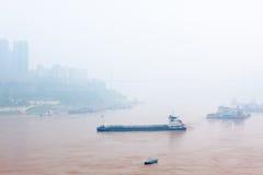 Miasto w mgle Obrazy Stock
