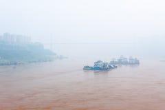 Miasto w mgle Obraz Stock