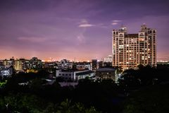 Miasto w nocy obraz stock