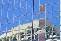 miasto w okno zdjęcie stock