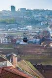 Miasto wagon kolei linowej Zdjęcie Royalty Free