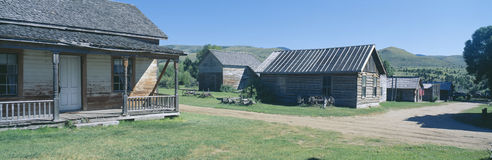 Miasto Widmo, Nevada miasto, Montana Obraz Stock