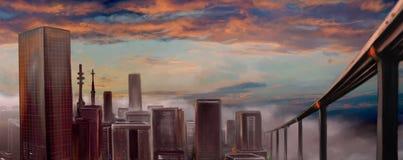 miasto widok royalty ilustracja