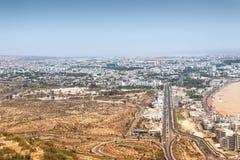Miasto widok Agadir, Maroko Zdjęcie Royalty Free