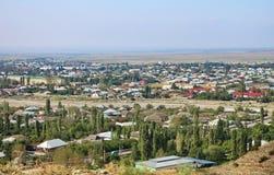 Miasto widok Agsu w Wrześniu, zdjęcie stock