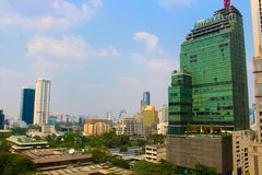Miasto widok Bangkok, Tajlandia przy Midday Obrazy Stock