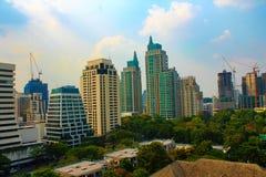 Miasto widok Bangkok, Tajlandia przy Midday Zdjęcie Royalty Free