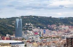 Miasto widok Bilbao, Hiszpania zdjęcie royalty free