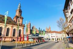 Miasto widok dżdżownicy, Niemcy fotografia stock