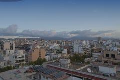 Miasto widok mieszkaniowy Palmy Mallorca miasto i budynki obraz stock