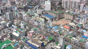 Miasto. Widok od above zbiory wideo